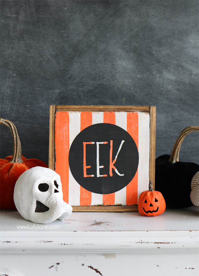 DIY Eek! sign