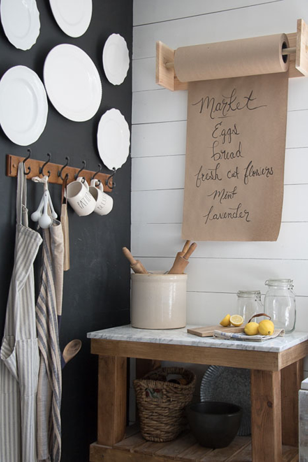 DIY Butcher Paper Holder via Seeking Lavender Lane