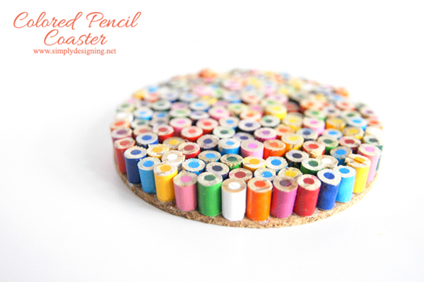 Colored Pencil Coasters via Simply Designing