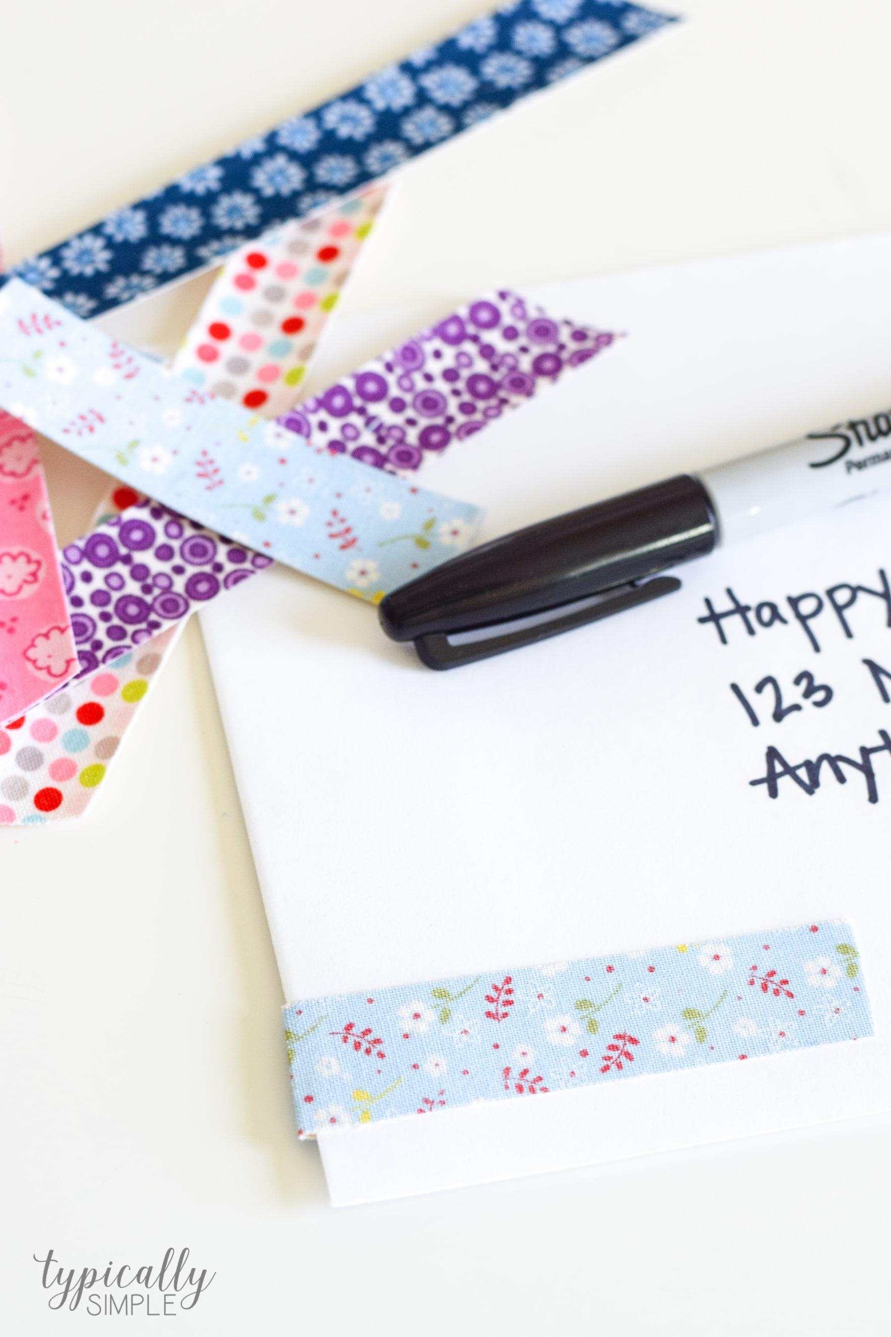 DIY Fabric Tape via Typically Simple