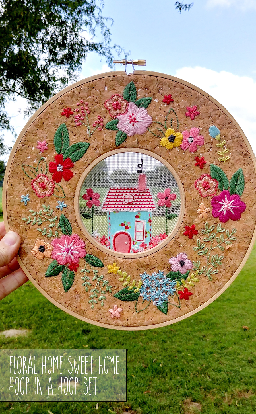 Floral Home Sweet Home Hoop via Flamingo Toes