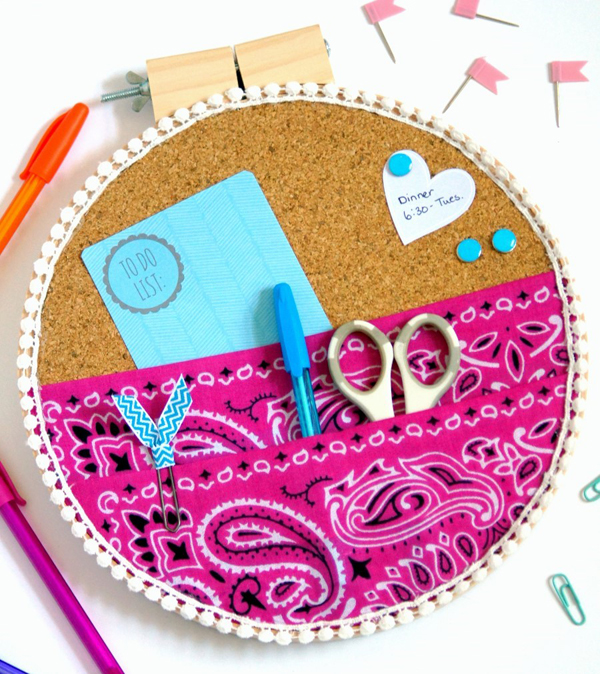 Show and Tell Party | DIY Embroidery Hoop Organizer via Consumer Crafts
