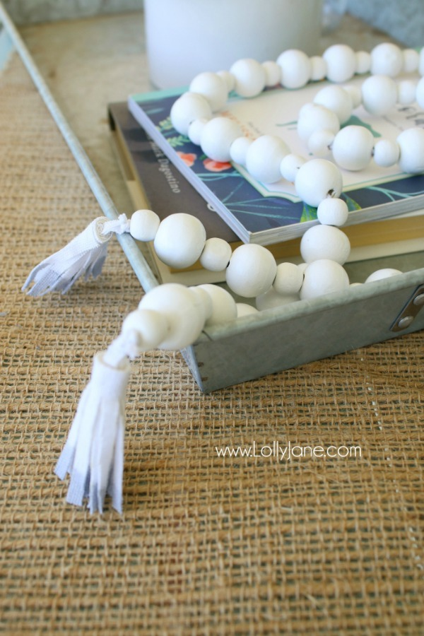 How to Make a Wood Bead Garland via Lolly Jane