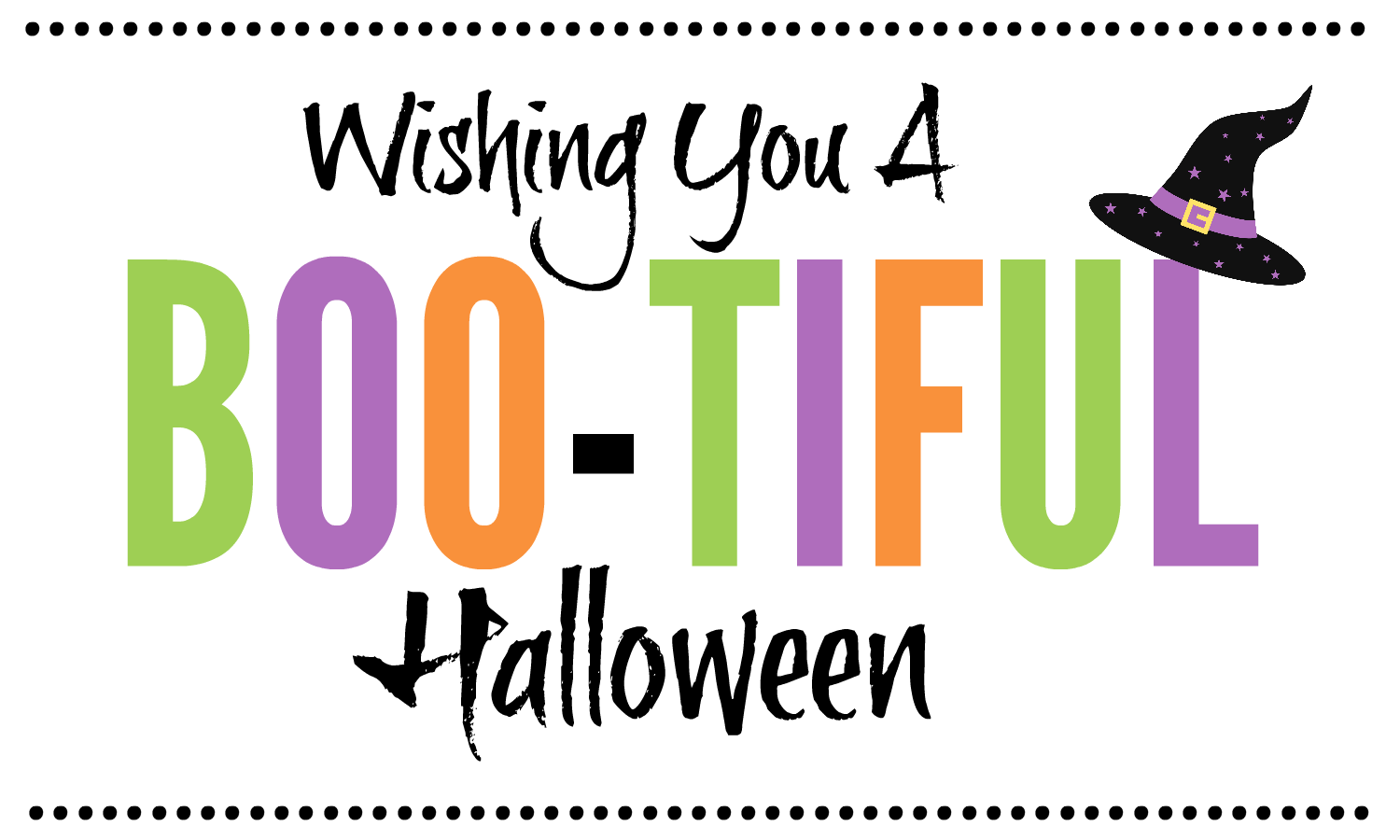 Wishing You A BOO-TIFUL Halloween