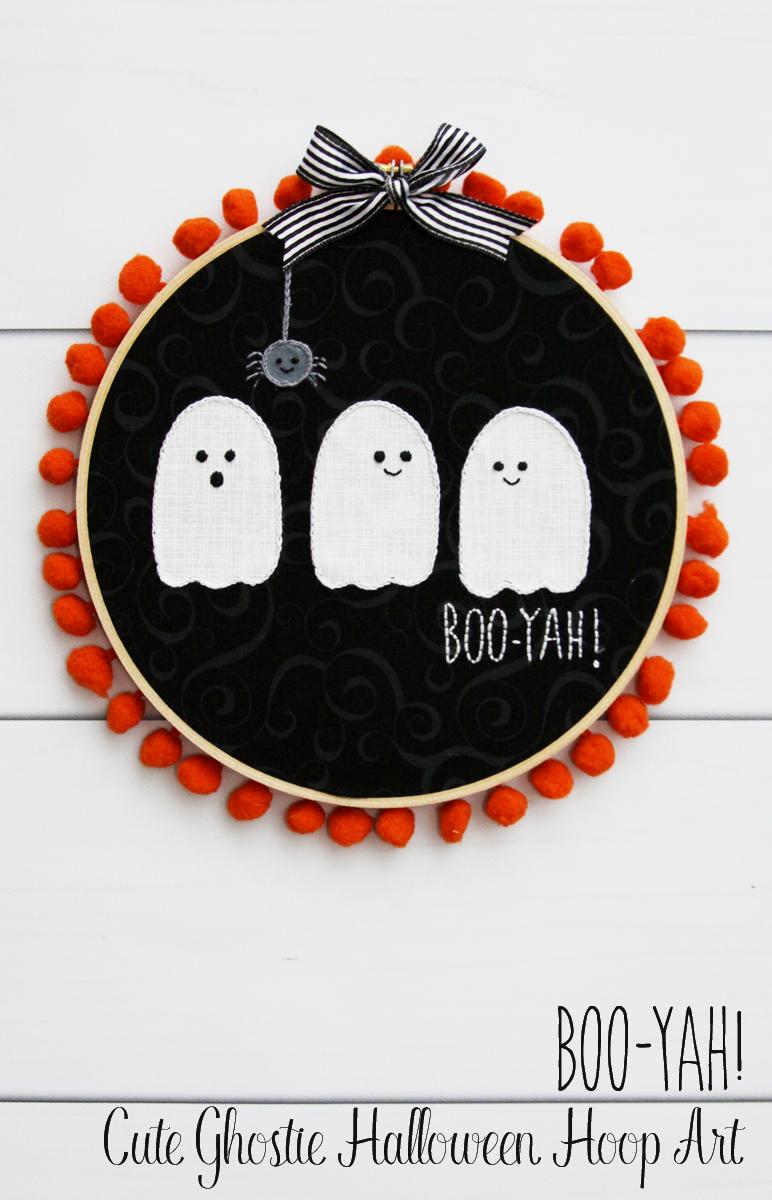 Boo-yah! Cute Ghosties Halloween Hoop