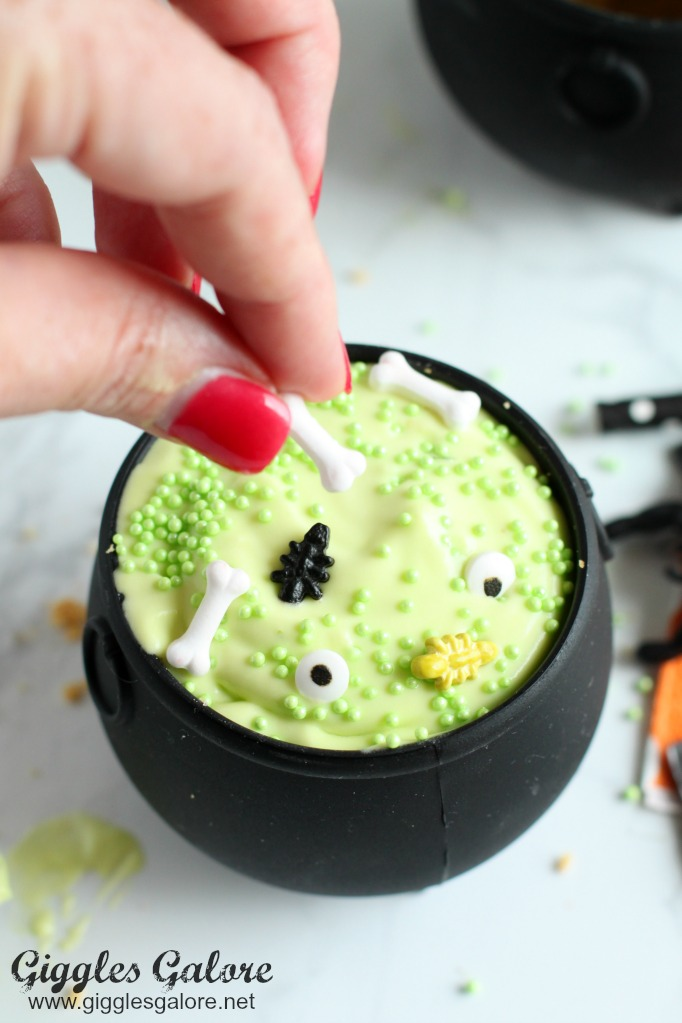 Bubbling Key Lime Mousse Cauldrons - Halloween Desserts for Kids