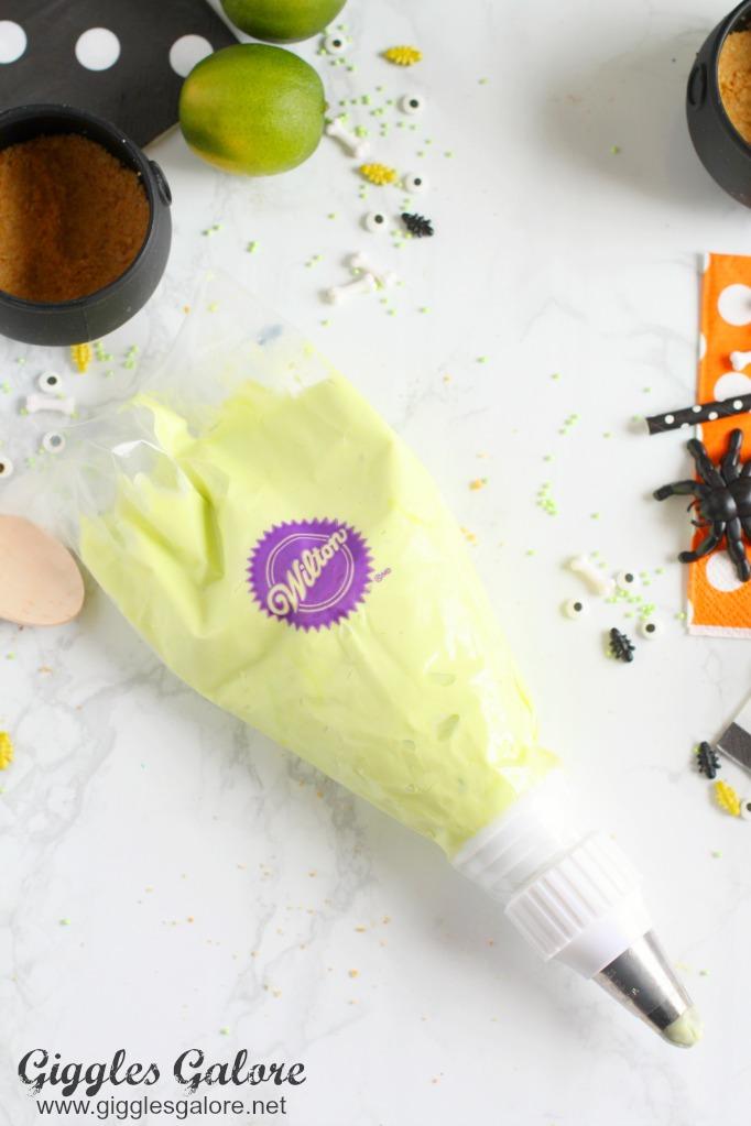 Bubbling Key Lime Mousse Cauldrons - Halloween Desserts for Kids