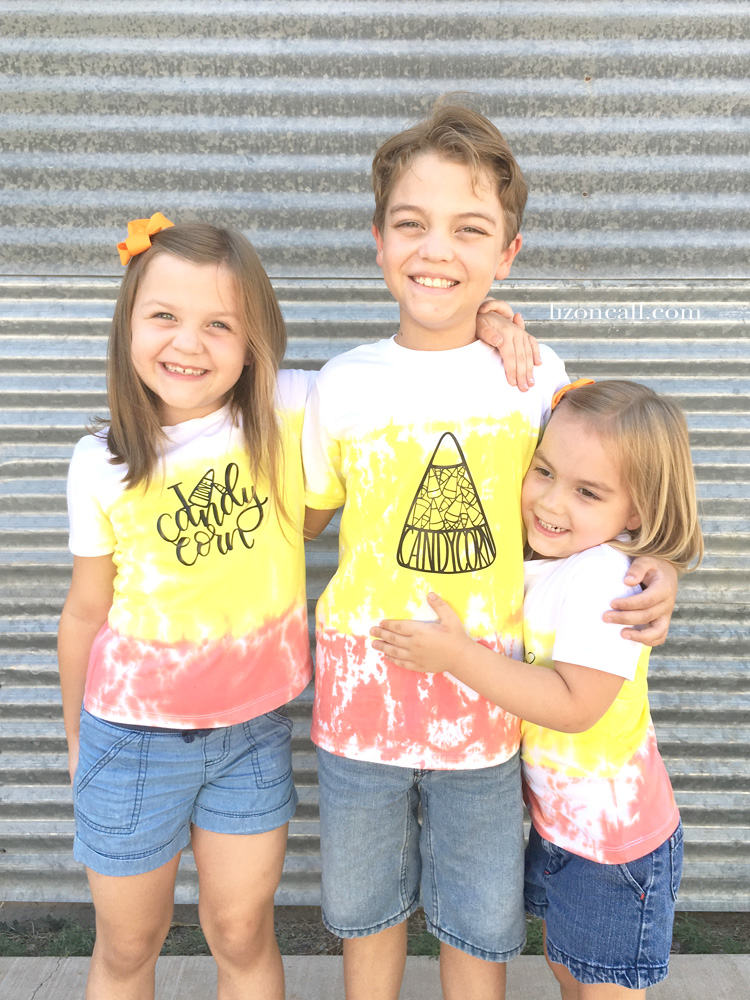 Candy Corn Tie Dye Shirts | Halloween Crafts