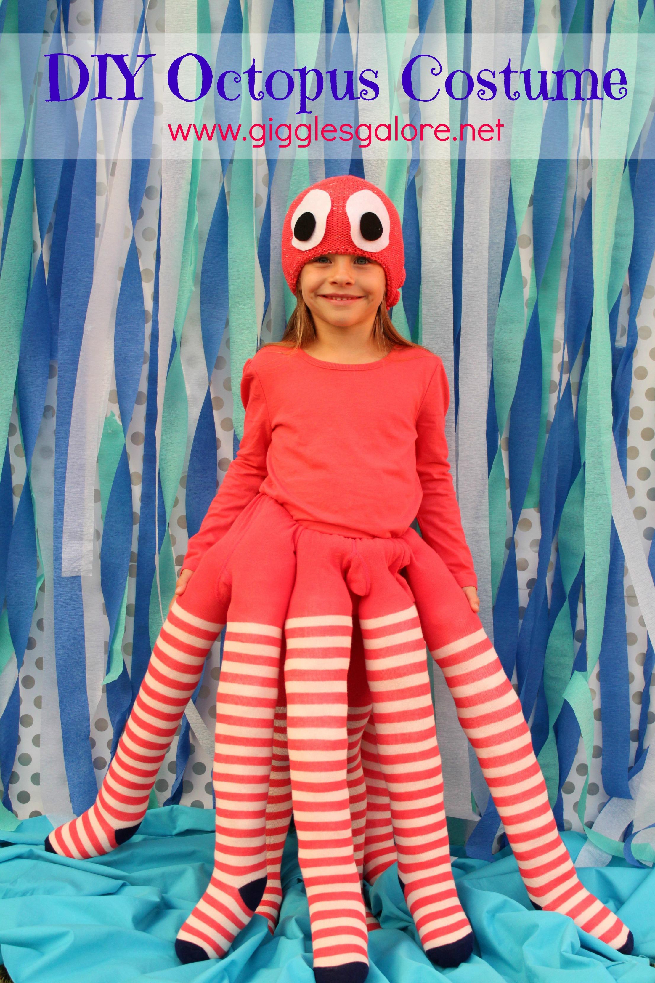 DIY Octopus Costume - Kids DIY Halloween Costume