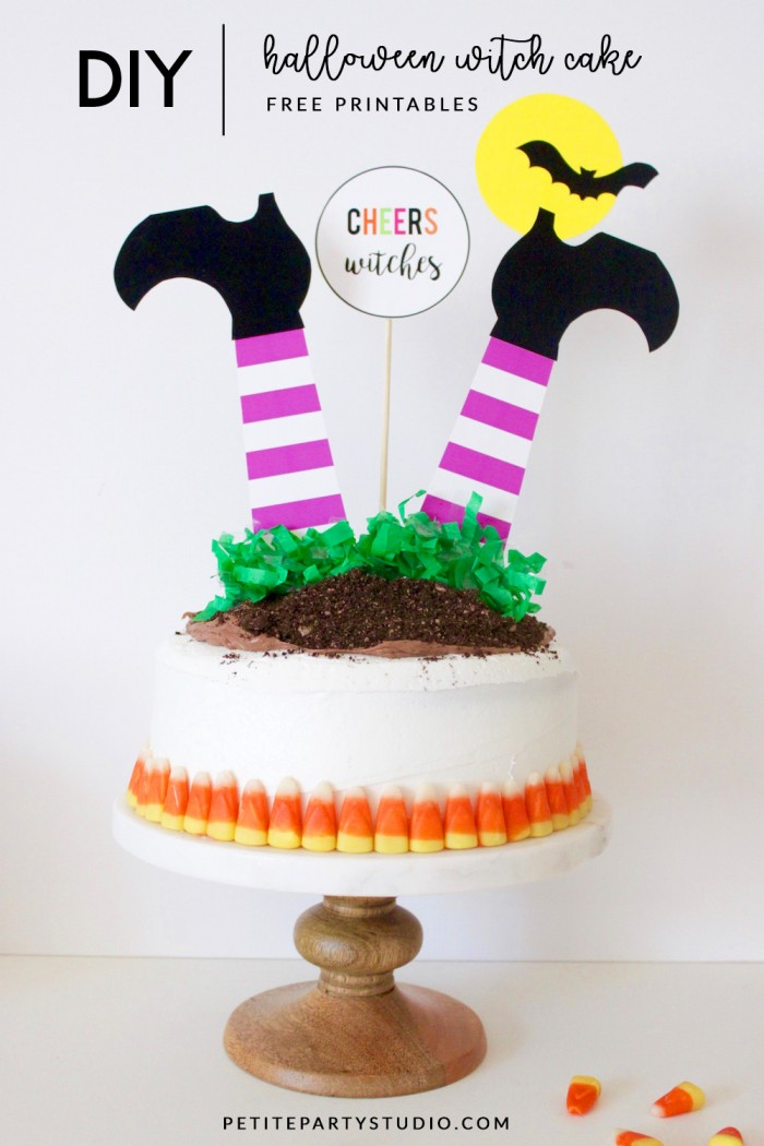 DIY Witch Cake-Halloween Treats and Free Printable
