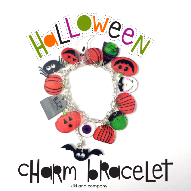 Halloween Charm Bracelet-Halloween Kids Crafts