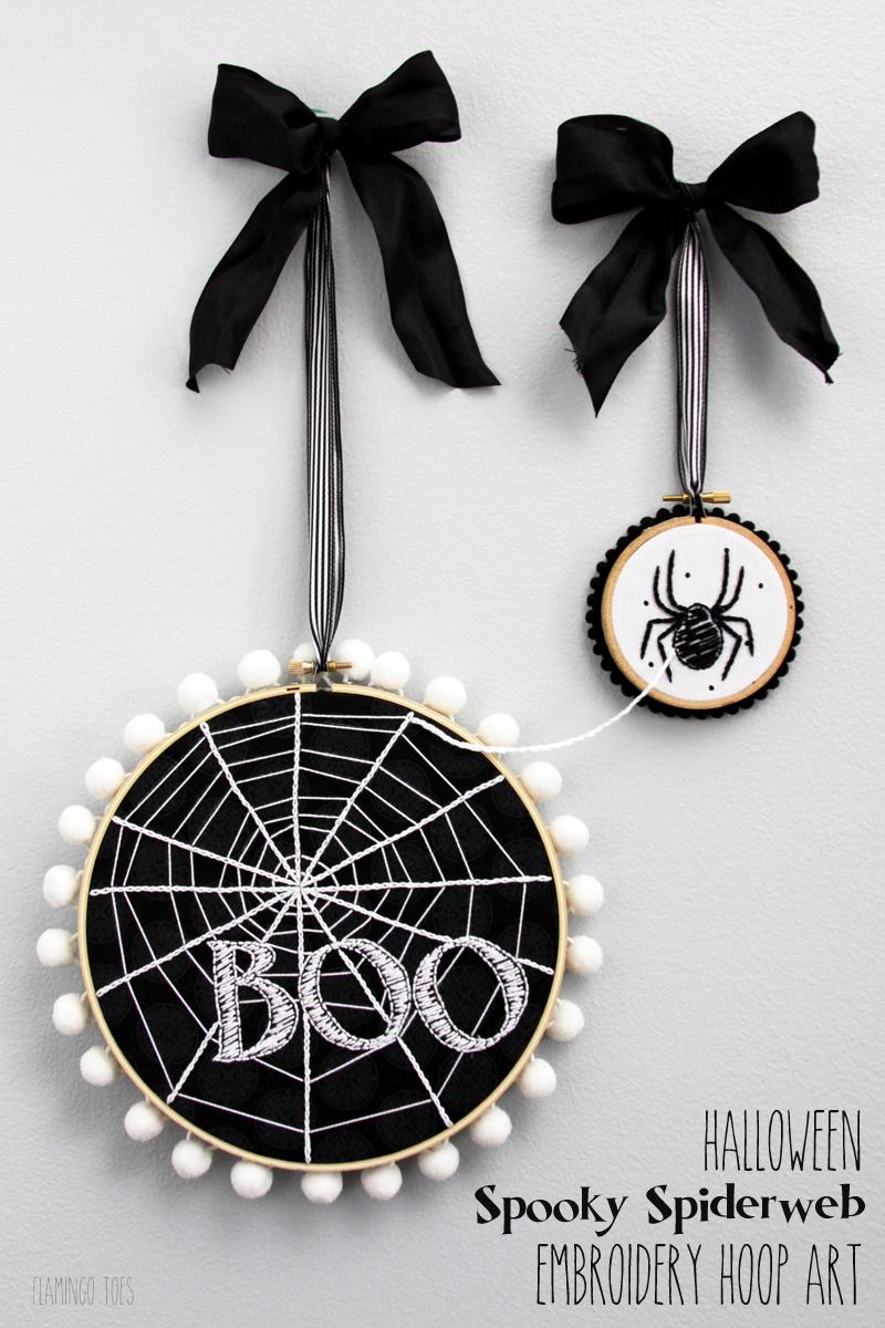 Spooky Spiderweb Double Hoop
