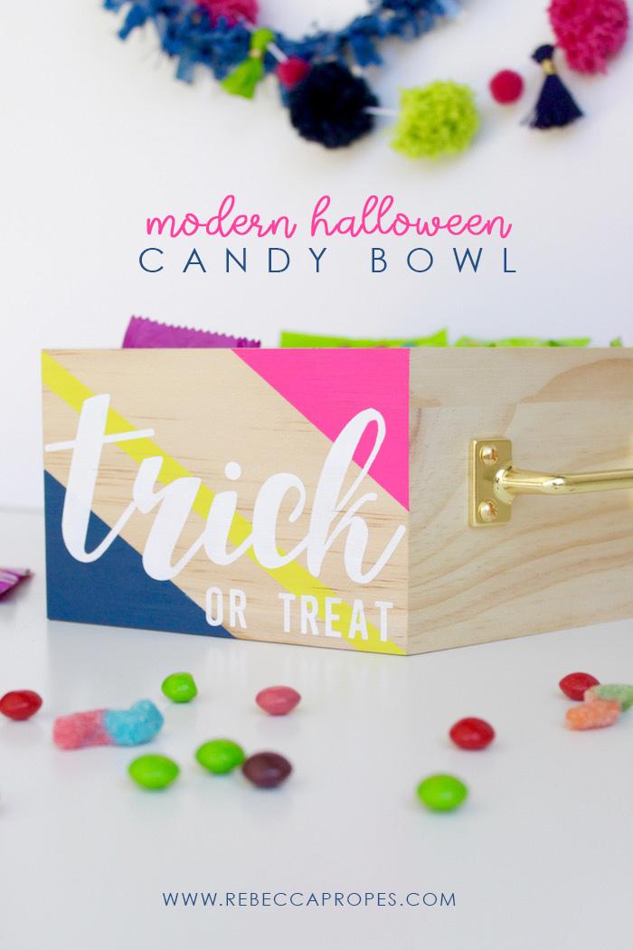 Halloween DIY Candy Bowl