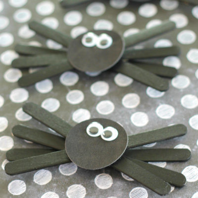 Popsicle Stick Spiders