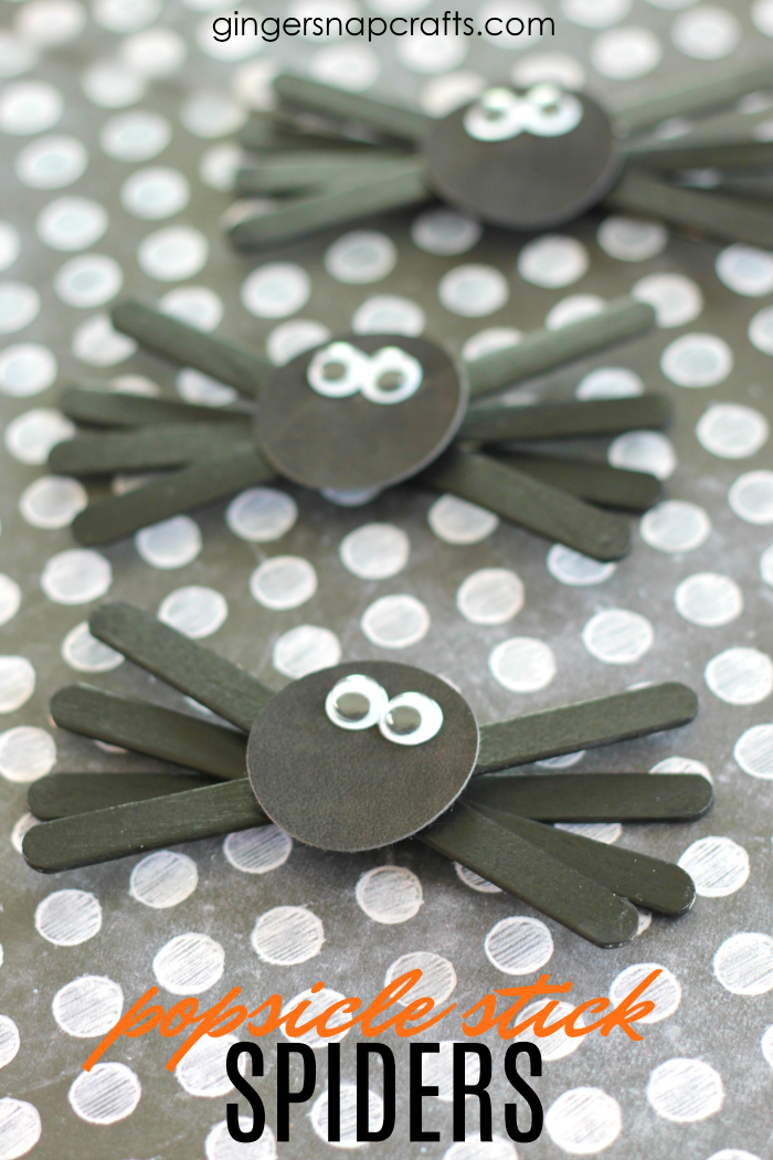 Popsicle Stick Spiders | Easy Halloween Kids Crafts