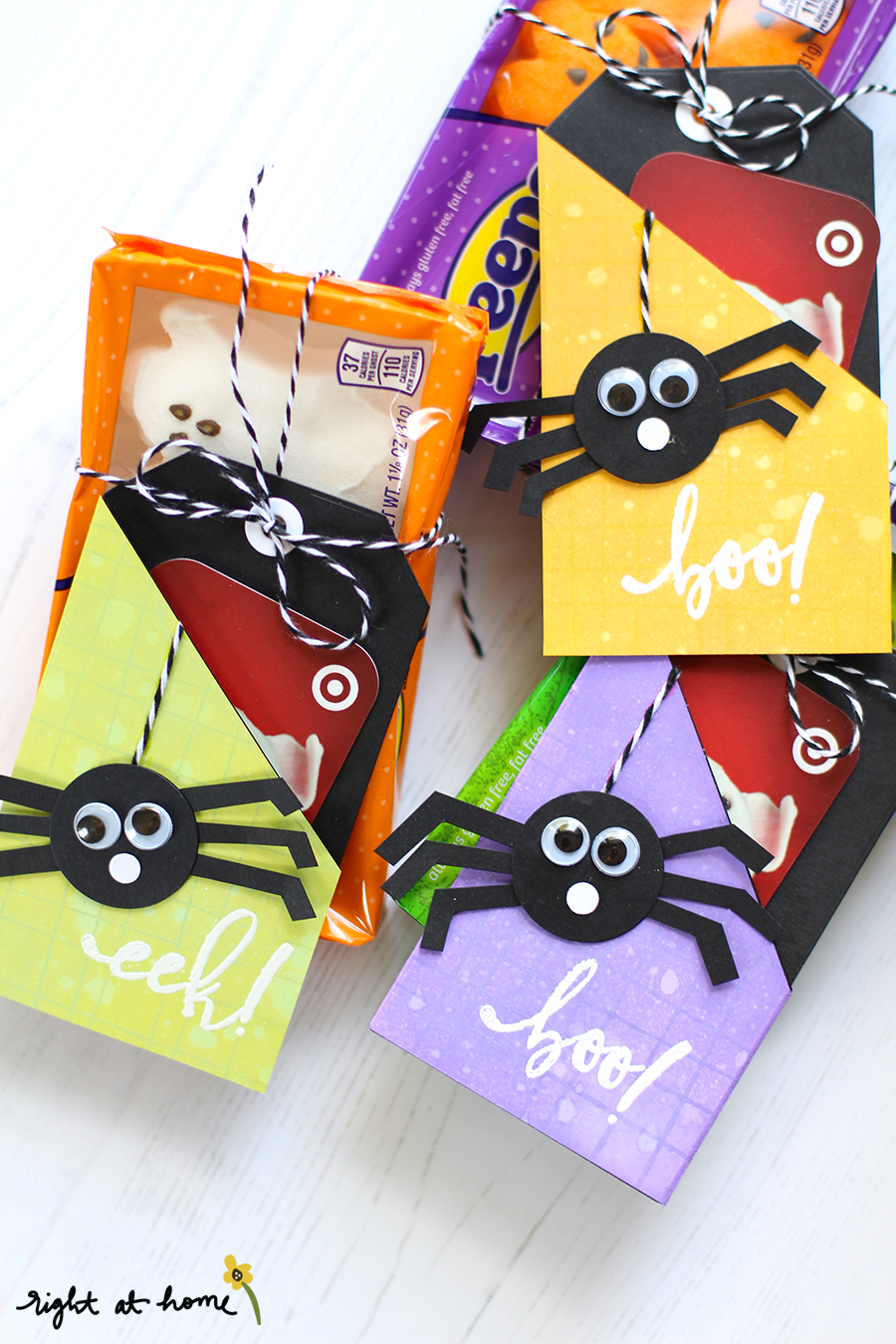 DIY Halloween Gift Card Tags- Halloween Spider Cards