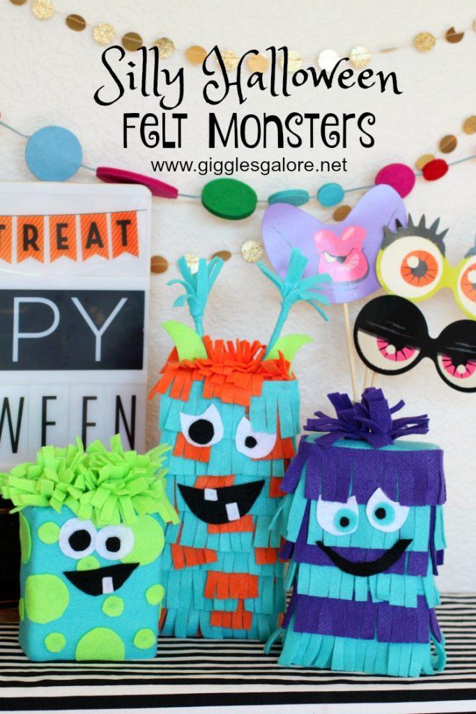 Silly Halloween Felt Monsters - DIY Halloween Decor