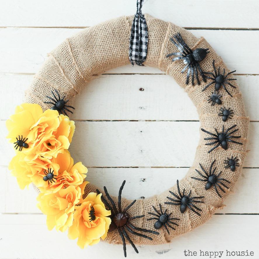 Creepy Crawly Pretty Halloween Wreath