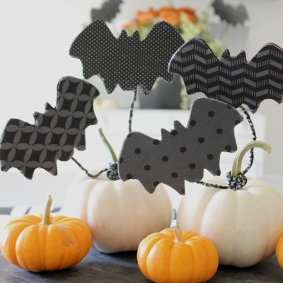 DIY Flying Decoupage Bats