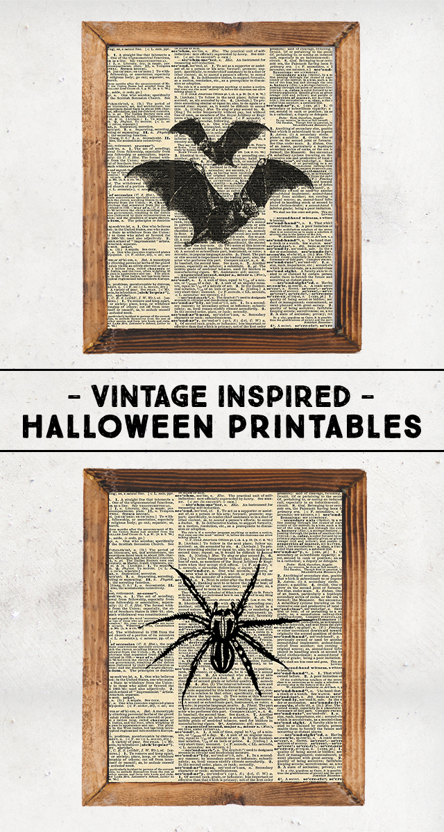 photograph regarding Vintage Halloween Printable titled Classic Encouraged Halloween Printables - 1825