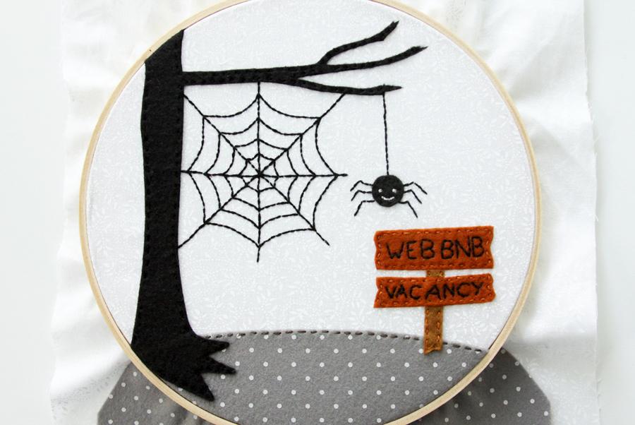 Halloween Hoop Art | Web BNB Halloween Embroidery Hoop Art