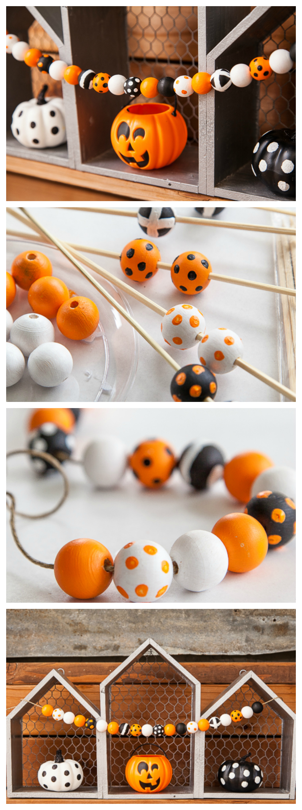 Cutest Diy Halloween Wood Bead Garland Eighteen25
