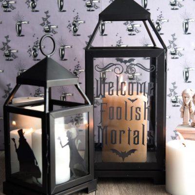 DIY Haunted Mansion Lanterns