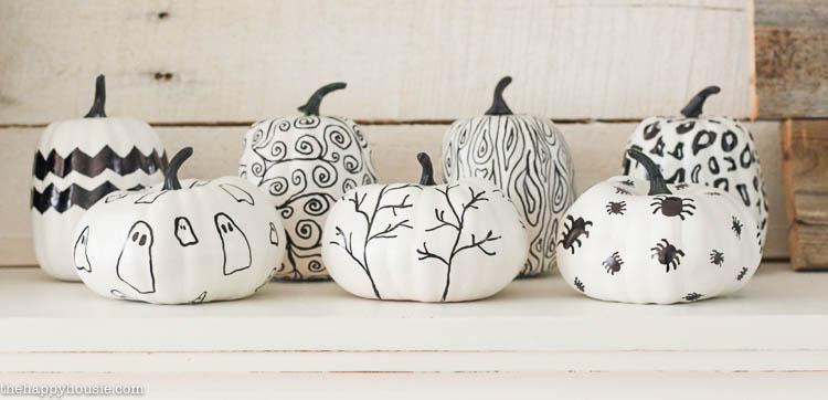 DIY Sharpie Pumpkins