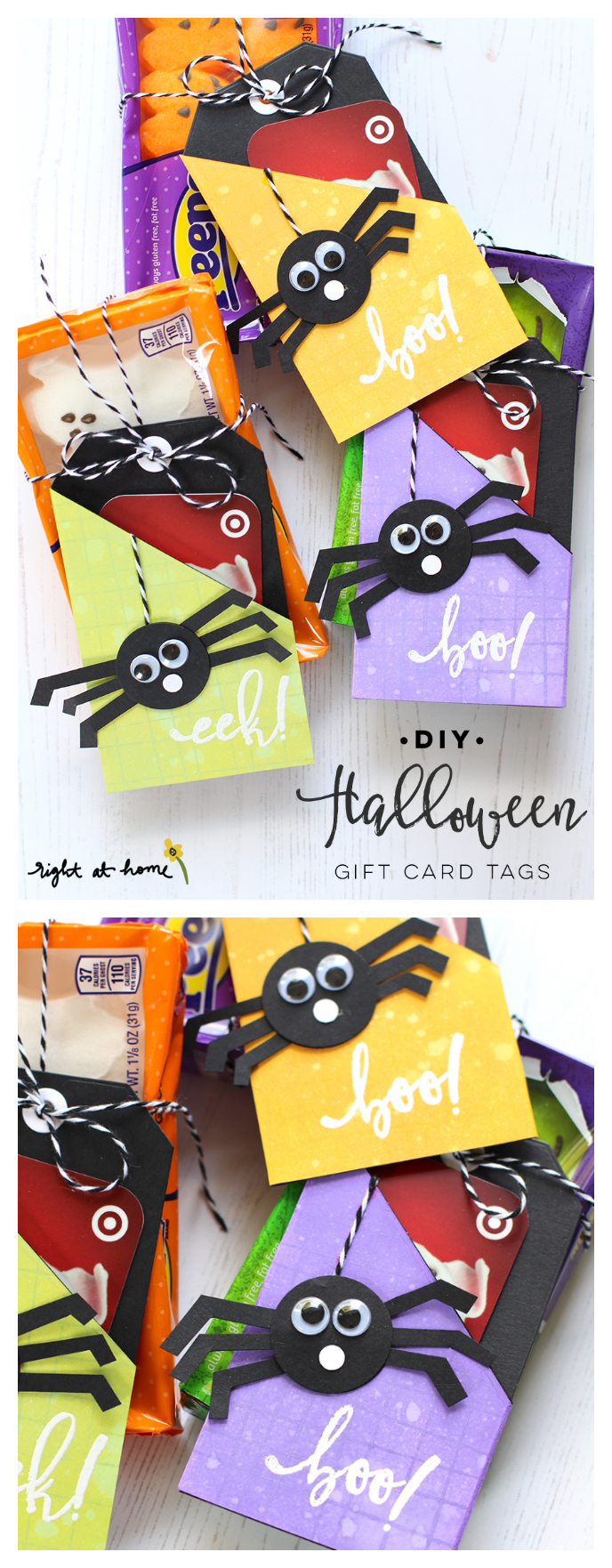 DIY Halloween Gift Card Tags | Halloween Gift Ideas