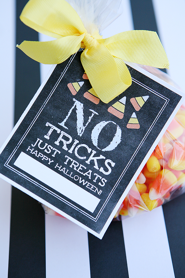 No Tricks Just Treats Free Printable Halloween Tags