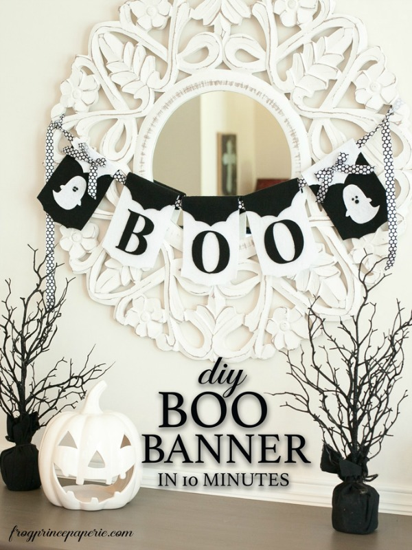 DIY 10-Minute Boo Banner via Frog Prince Paperie