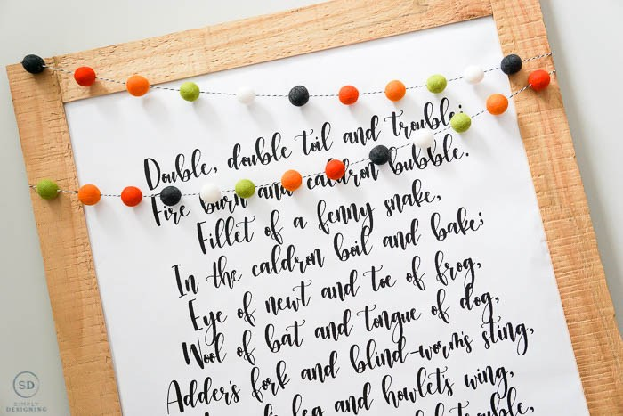 Double Double Toil & Trouble Halloween Print via Simply Designing