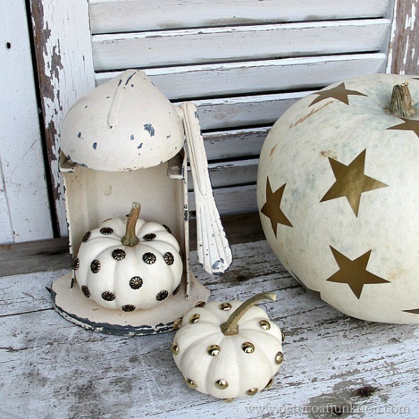 Decorating Ideas for White Pumpkins via Petticoat Junktion