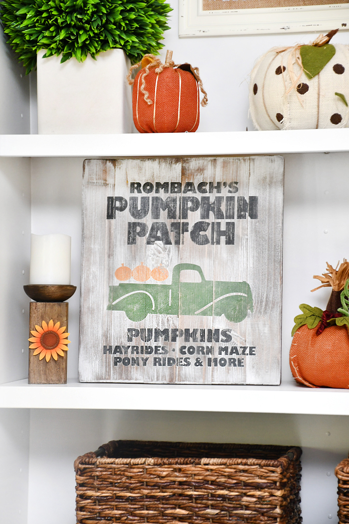 Pumpkin Patch Sign via How to Nest for Less