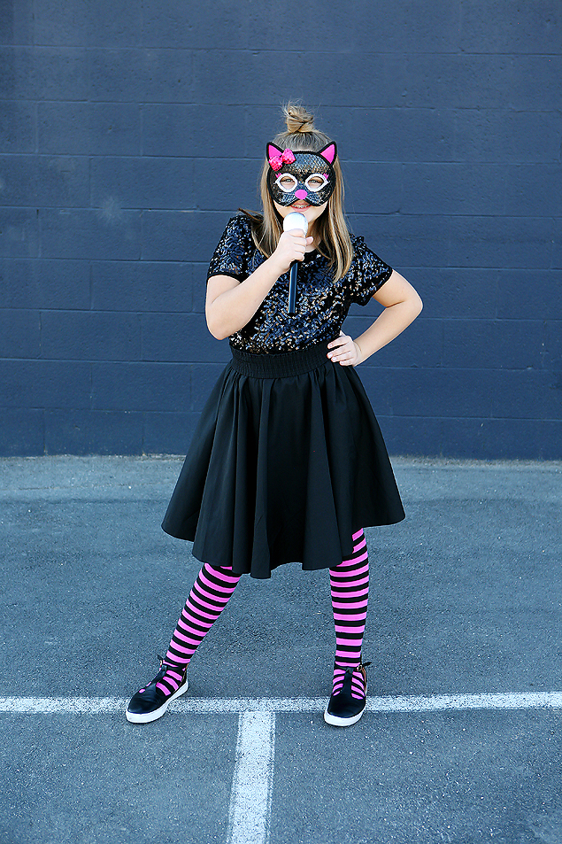 Easy Halloween Costumes For Tween Girls | Rock Star Kitty