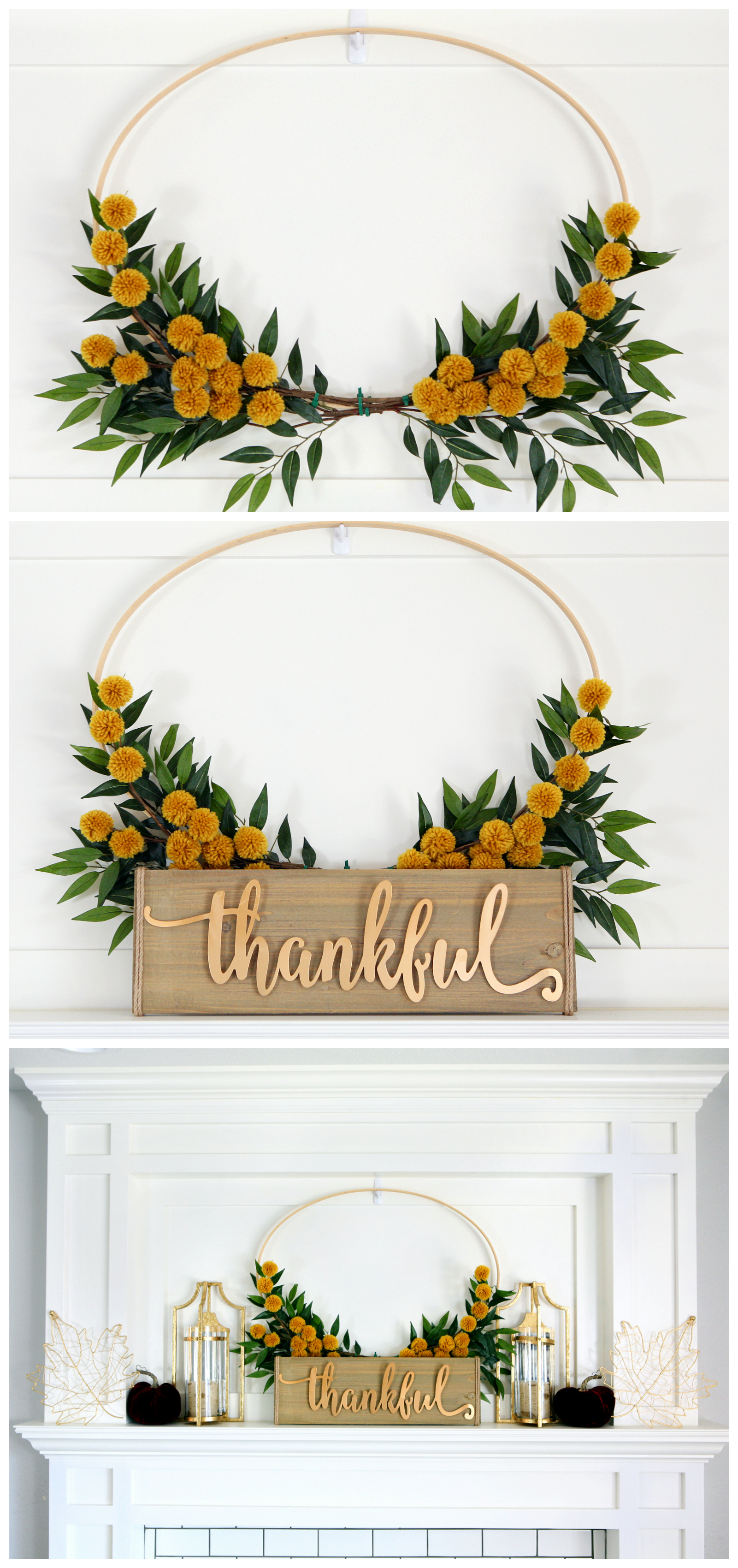 Pretty Fall Mantel - DIY Fall Mantel