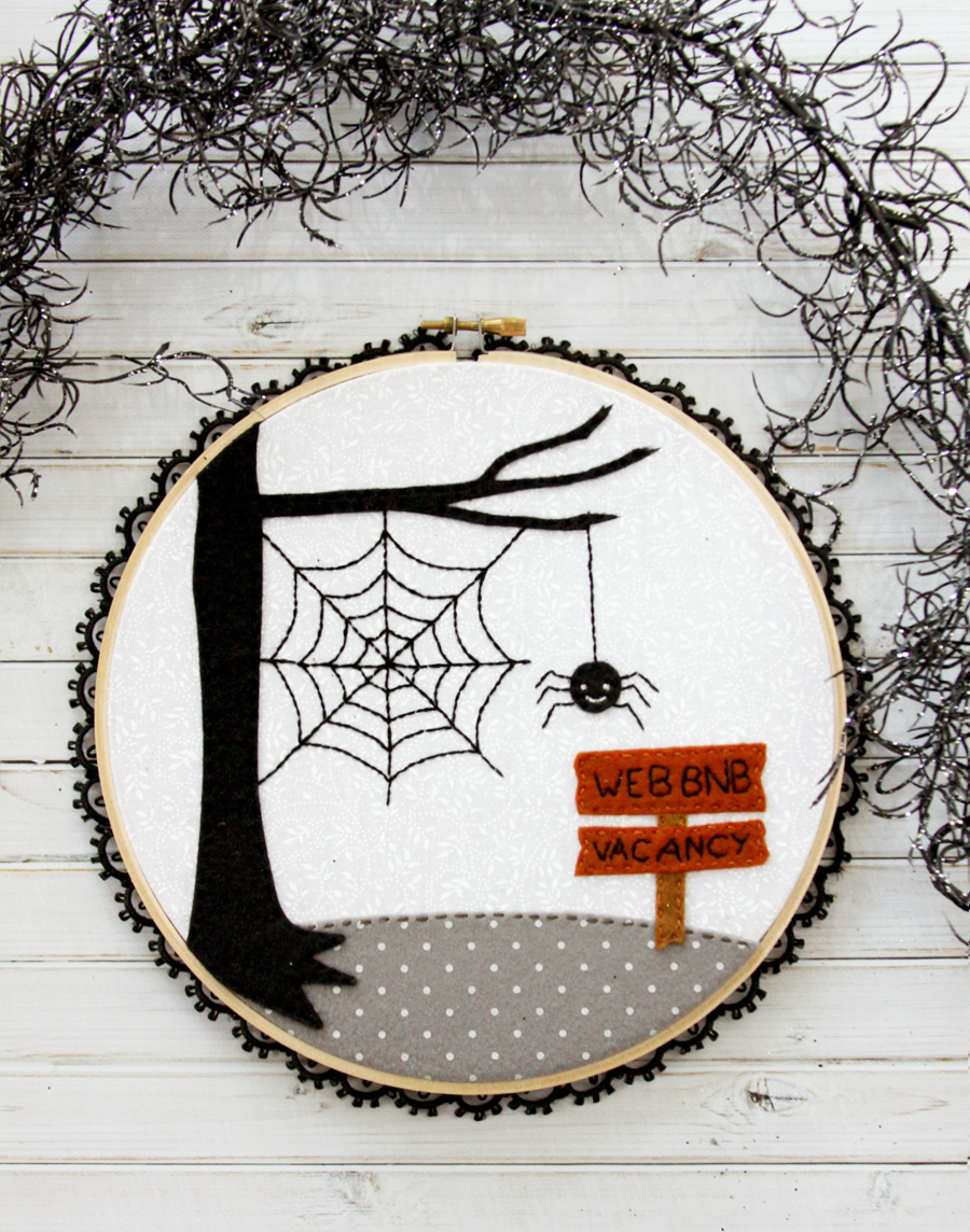 Halloween Hoop Art | Web BNB Halloween Embroidery Hoop Art