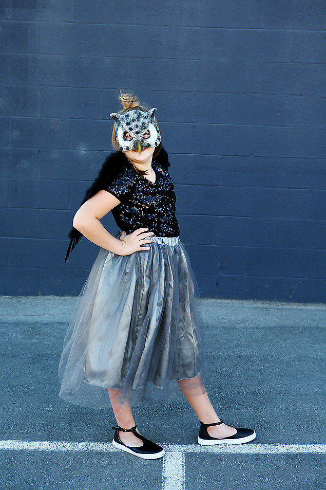 Easy Halloween Costumes For Tween Girls | Woodland Glam Owl