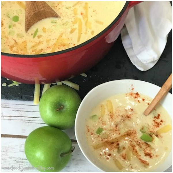 Apple Cheddar Soup from Foodie Gone Healthy