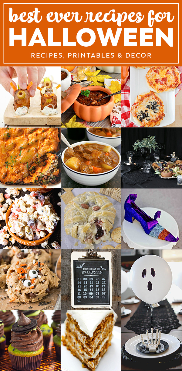 Halloween Night Recipes and Decor | Best ever Recipes, Printables and Decor for Halloween!