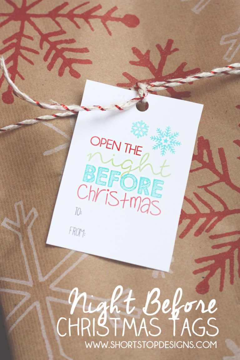 Night Before Christmas Tags