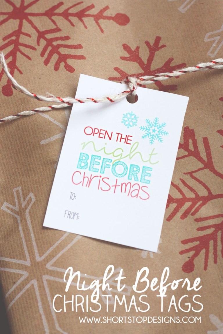 Night Before Christmas Tags
