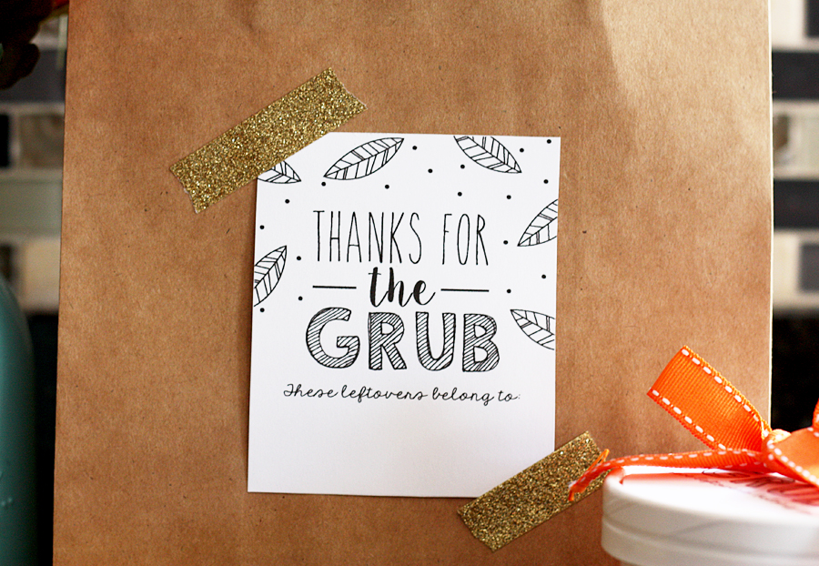 Thanksgiving Leftovers Printable | Thanksgiving Leftover Bags