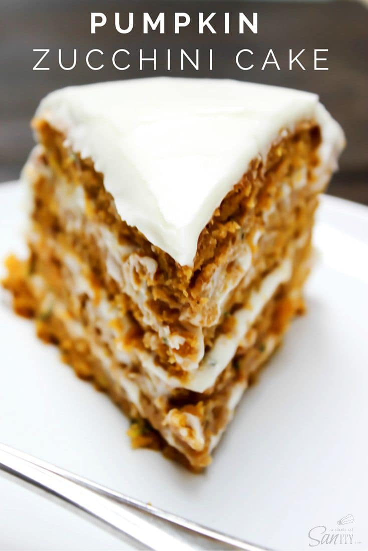Pumpkin Zucchini Cake from A Dash of Sanity