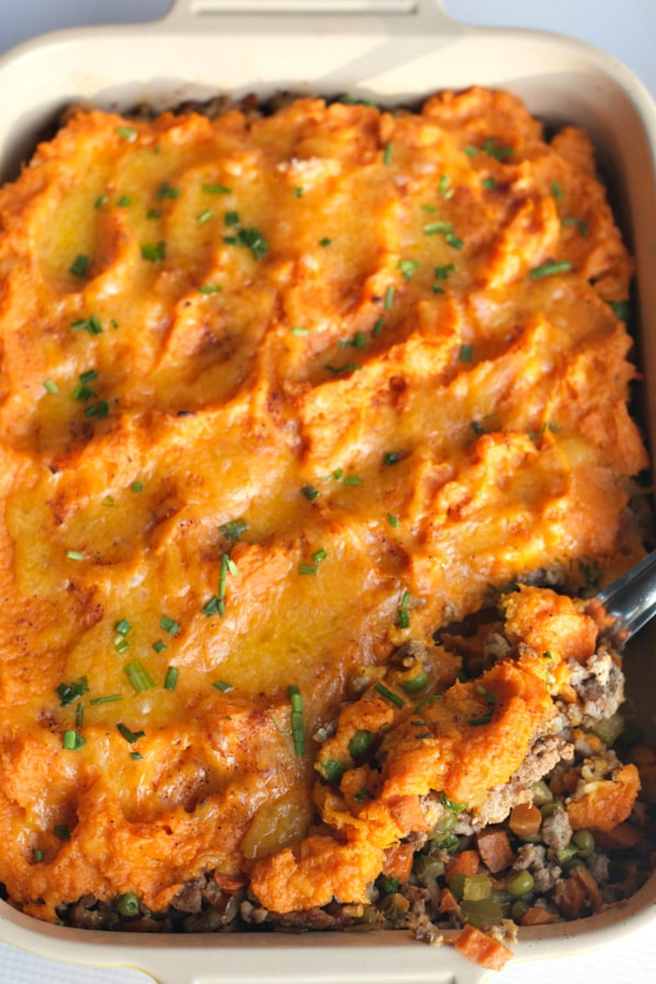 Sweet Potato Shepherd's Pie from The Reluctant Entertainer
