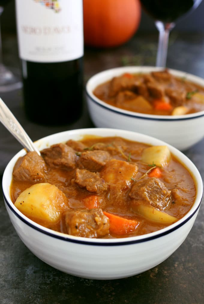 Pumpkin Beef Stew from Honey and Birch