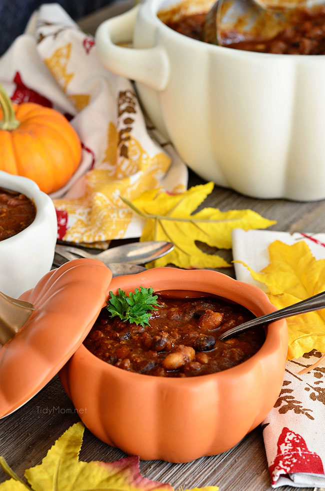 Pumpkin Chili from Tidy Mom