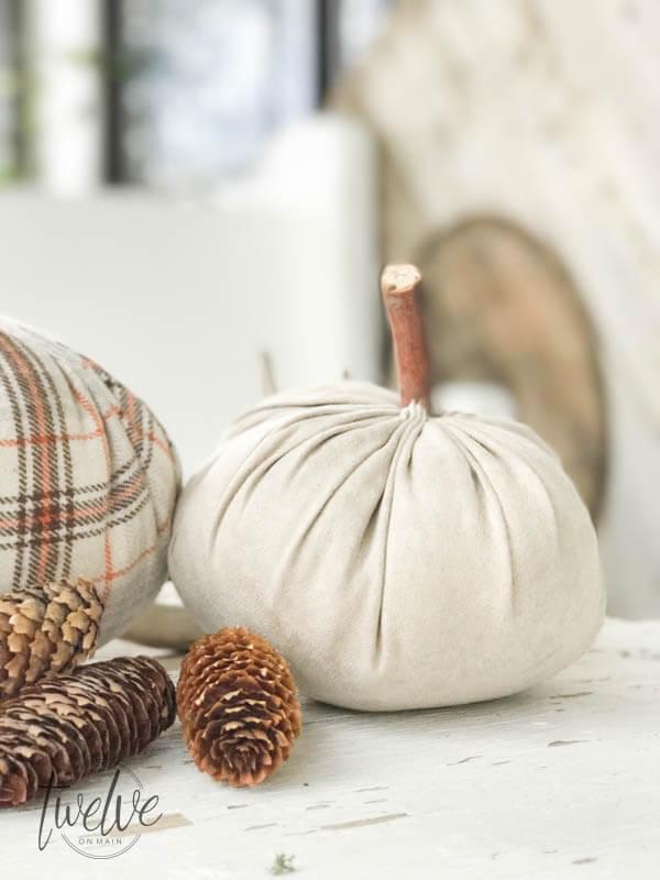 DIY Velvet Pumpkins via Twelve on Main
