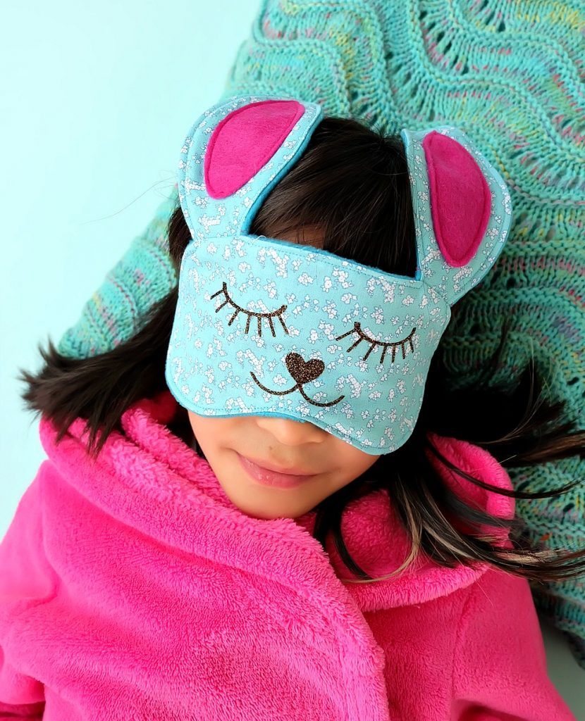 30-Minute Bunny Sleep Mask Sewing Tutorial via Hello Creative Family
