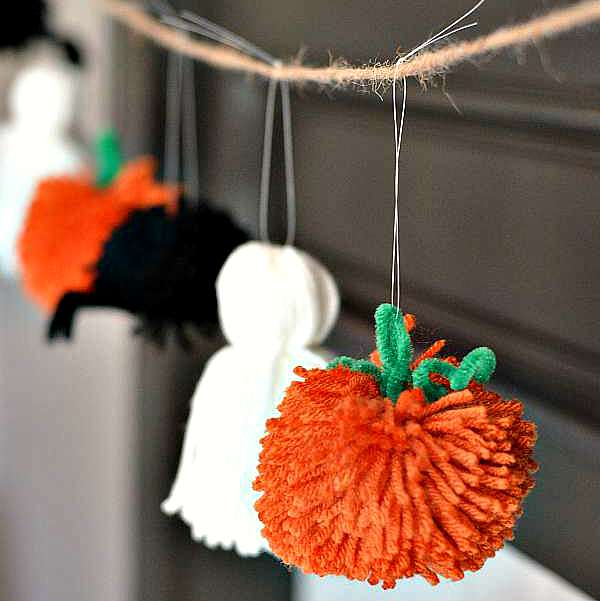 Easy Halloween Garland via Growing Up Gabel